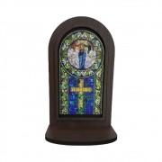 Oratório de Mesa MDF Vitral Nossa Senhora
