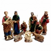 Presépio Sagrada Familia 26cm com 10 peças