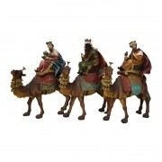 Reis Magos com Camelo 33cm