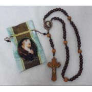 Terço Madeira Padre Pio
