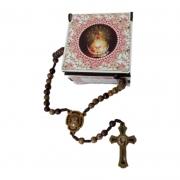 Terço Mãe da Divina Misericórdia Madeira com Porta Terço