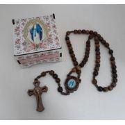 Terço Nossa Senhora das Graças em Madeira com Porta Terço