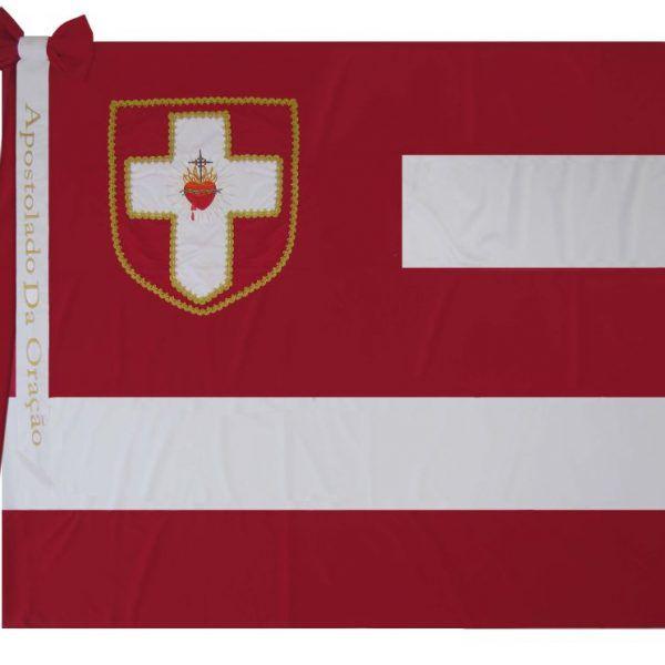 Bandeira do Apostolado da Oração-Com Laço