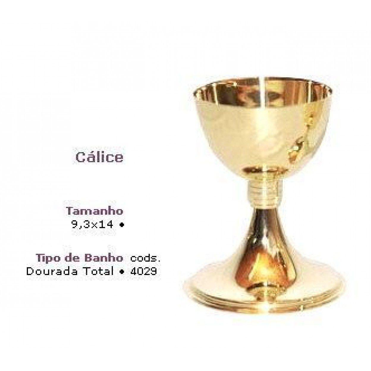 CÁLICE DOURADO 4029 - 14CM