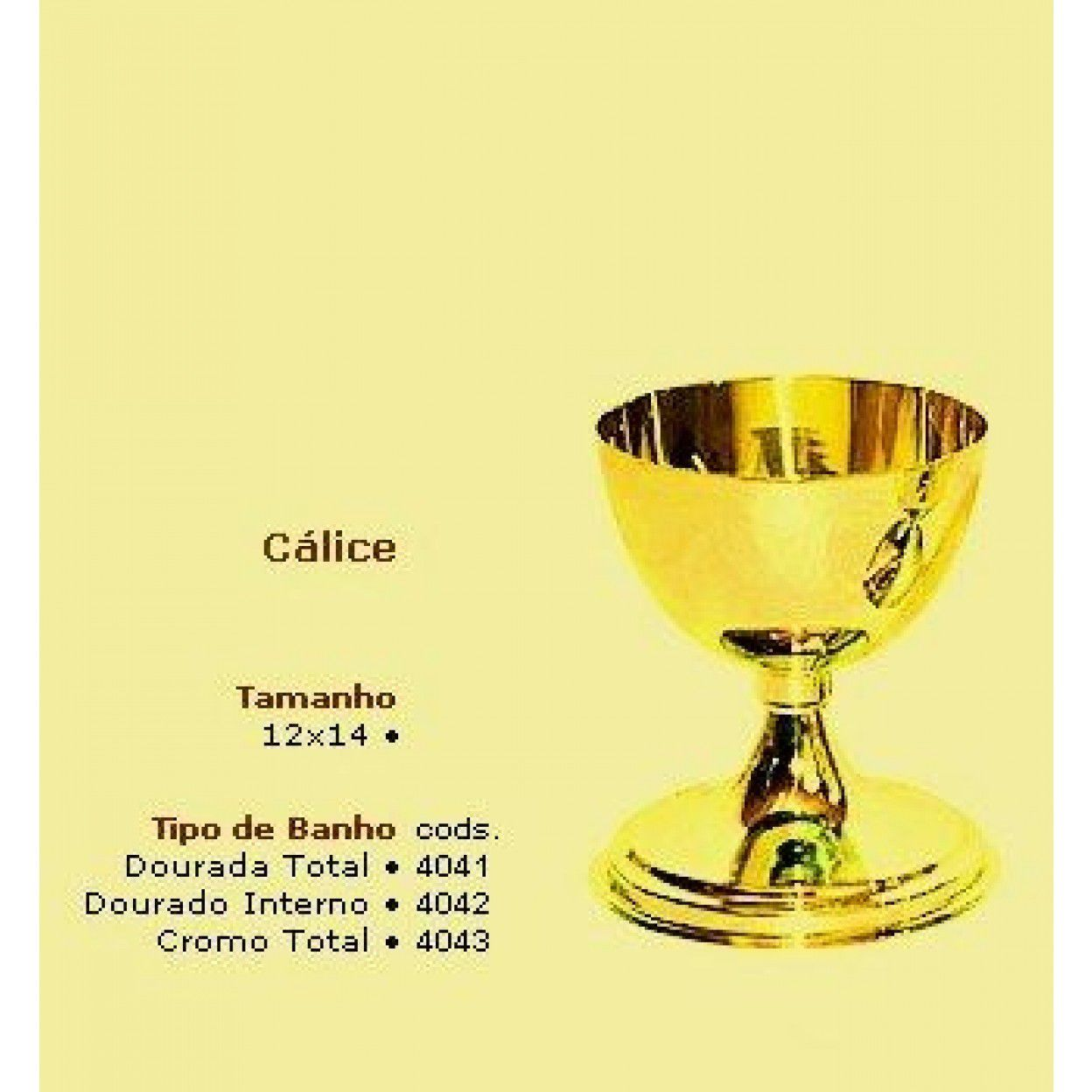 CÁLICE DOURADO 4041 - 1620