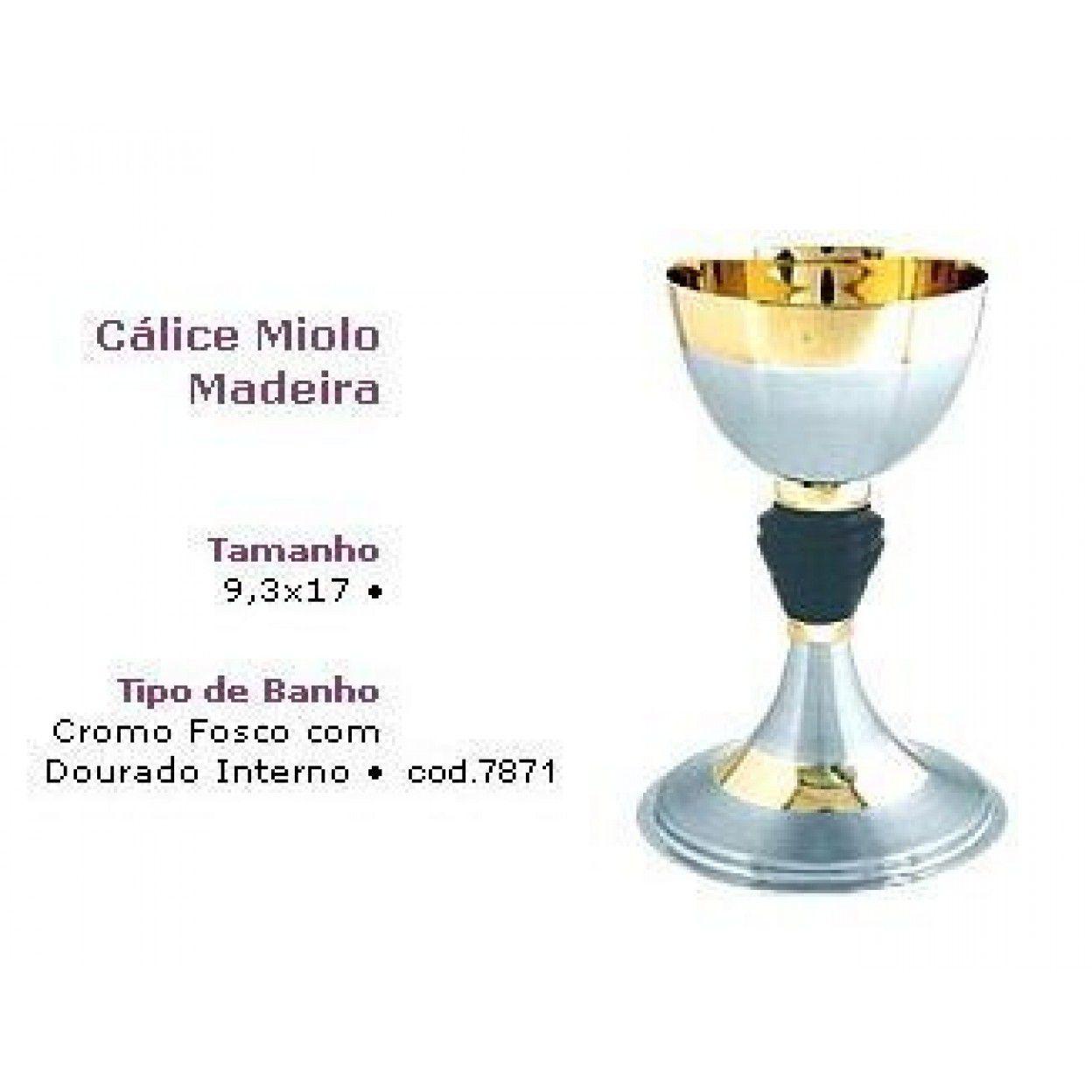 CÁLICE ESCOVADO CROMO FOSCO 7871 - 1119