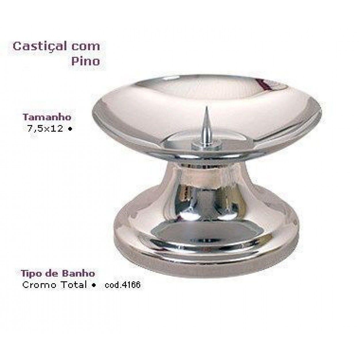 CASTIÇAL PINO CROMADO 4166