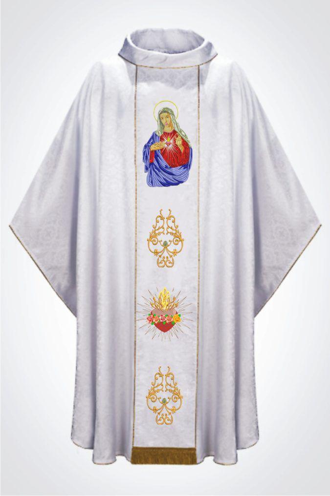Casula Bordada Imaculado Coração De Maria
