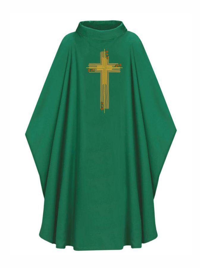 Casula com Estola Bordada Verde- Oxford 502.1140-3