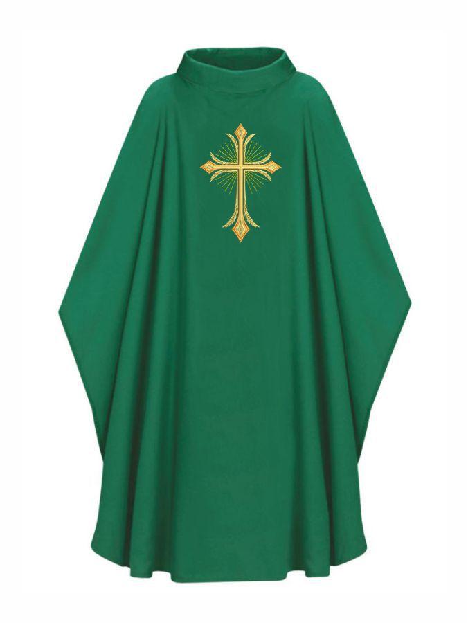 Casula com Estola Bordada Verde - Oxford 502.135-3