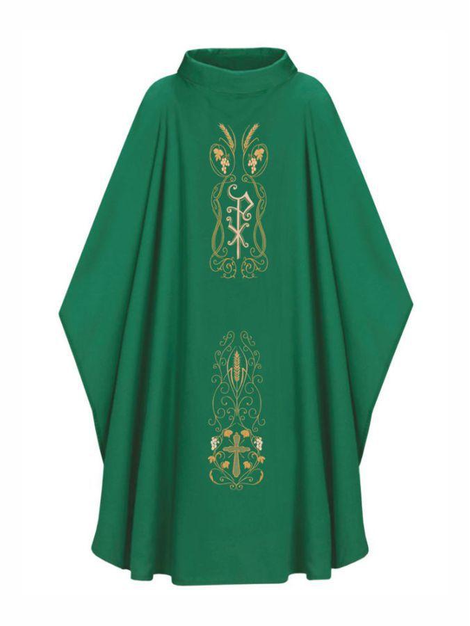 Casula com Estola Bordada Verde - Oxford  501.200