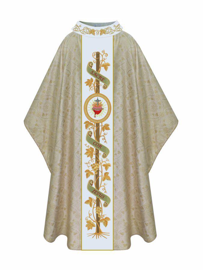 Casula Sagrado Coração com Pedras Swarovski 509.608