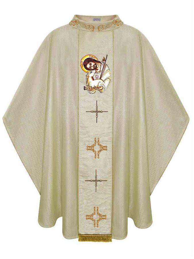 Casula tecido litúrgico e bordada 5101700