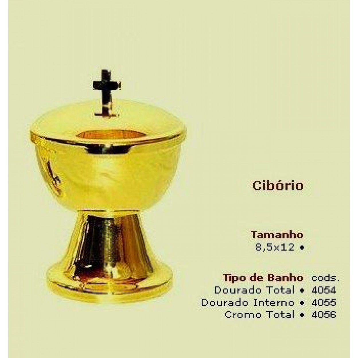 CIBÓRIO 8090 OURO TOTAL 4054 ALTURA 12CM