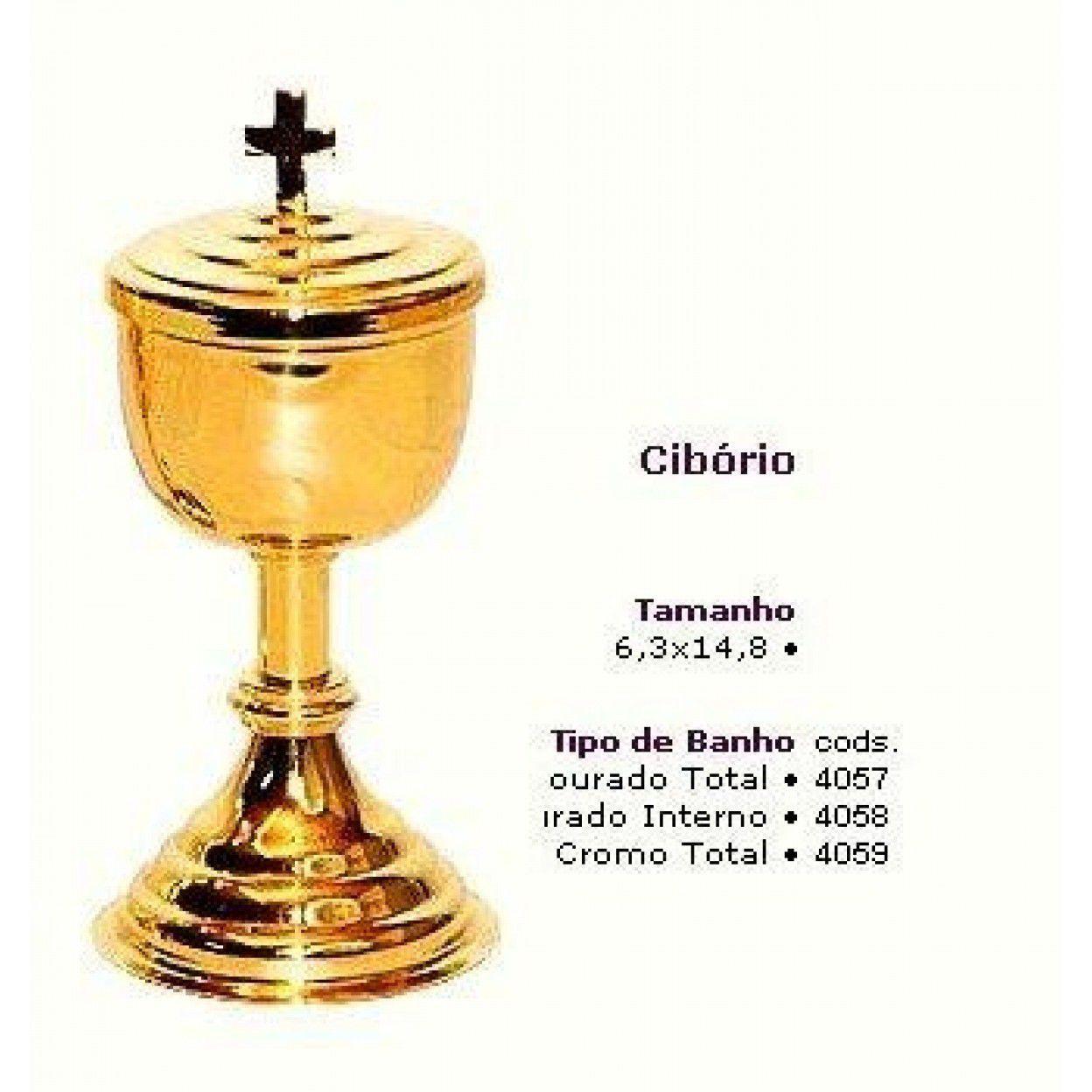 CIBÓRIO 9010 OURO 4057 CAPACIDADE 50 PARTÍCULAS