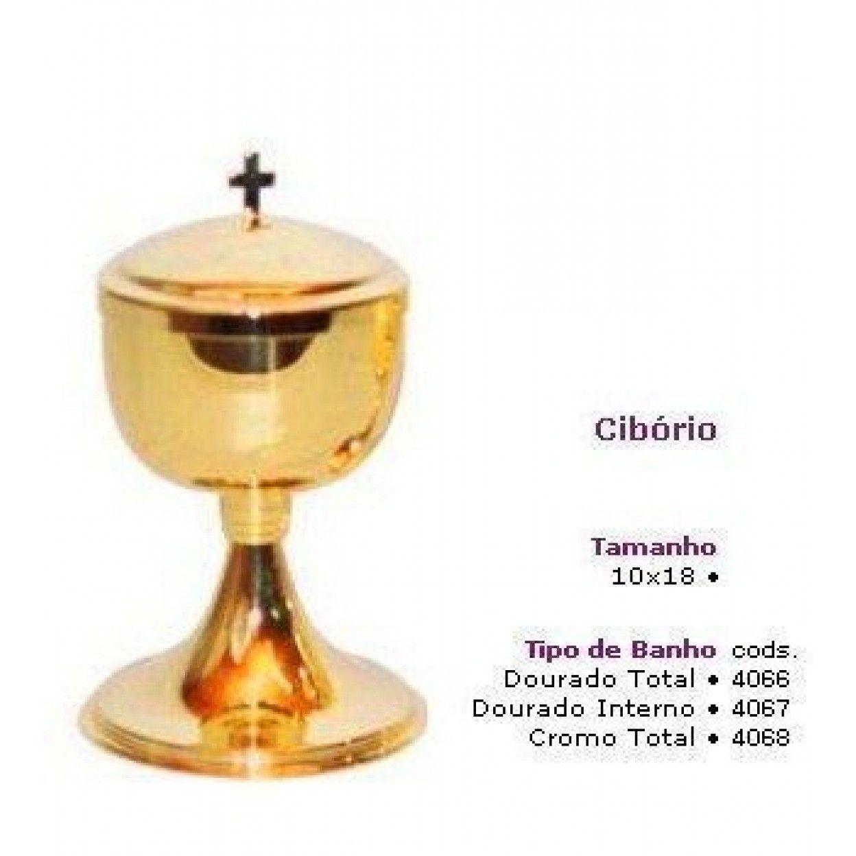 CIBÓRIO 9019 DOURADO TOTAL 4066 PARA 200 PARTÍCULAS