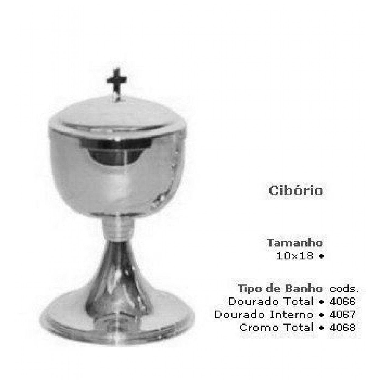 CIBÓRIO MD 4067 9019 DOURADO INTERNO