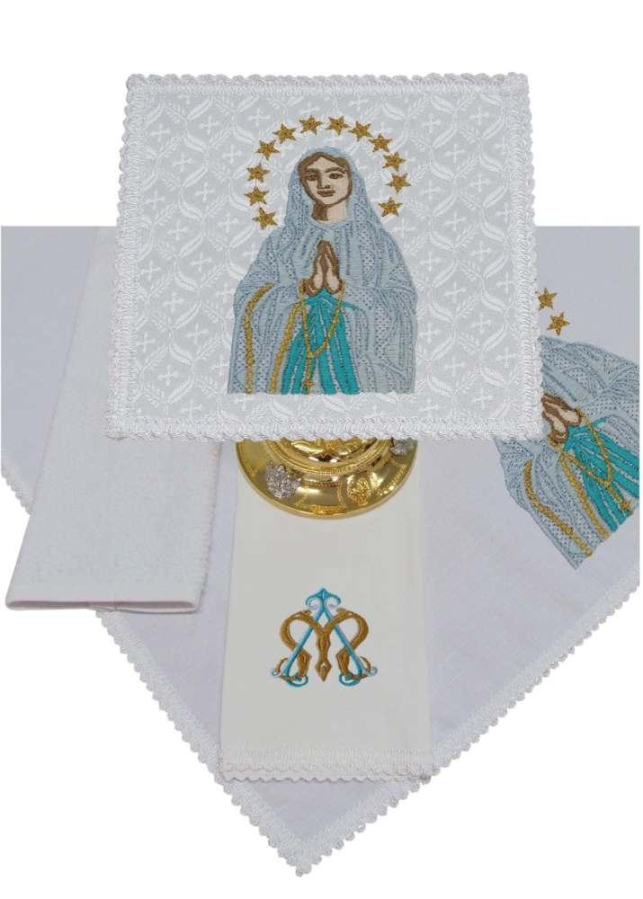 Jogo de Alfaias 300.B112 Nossa Senhora de Lourdes