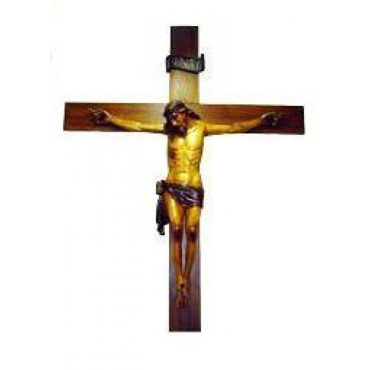 CRUCIFIXO MADEIRA 12315 CORPO DO CRISTO 180CM