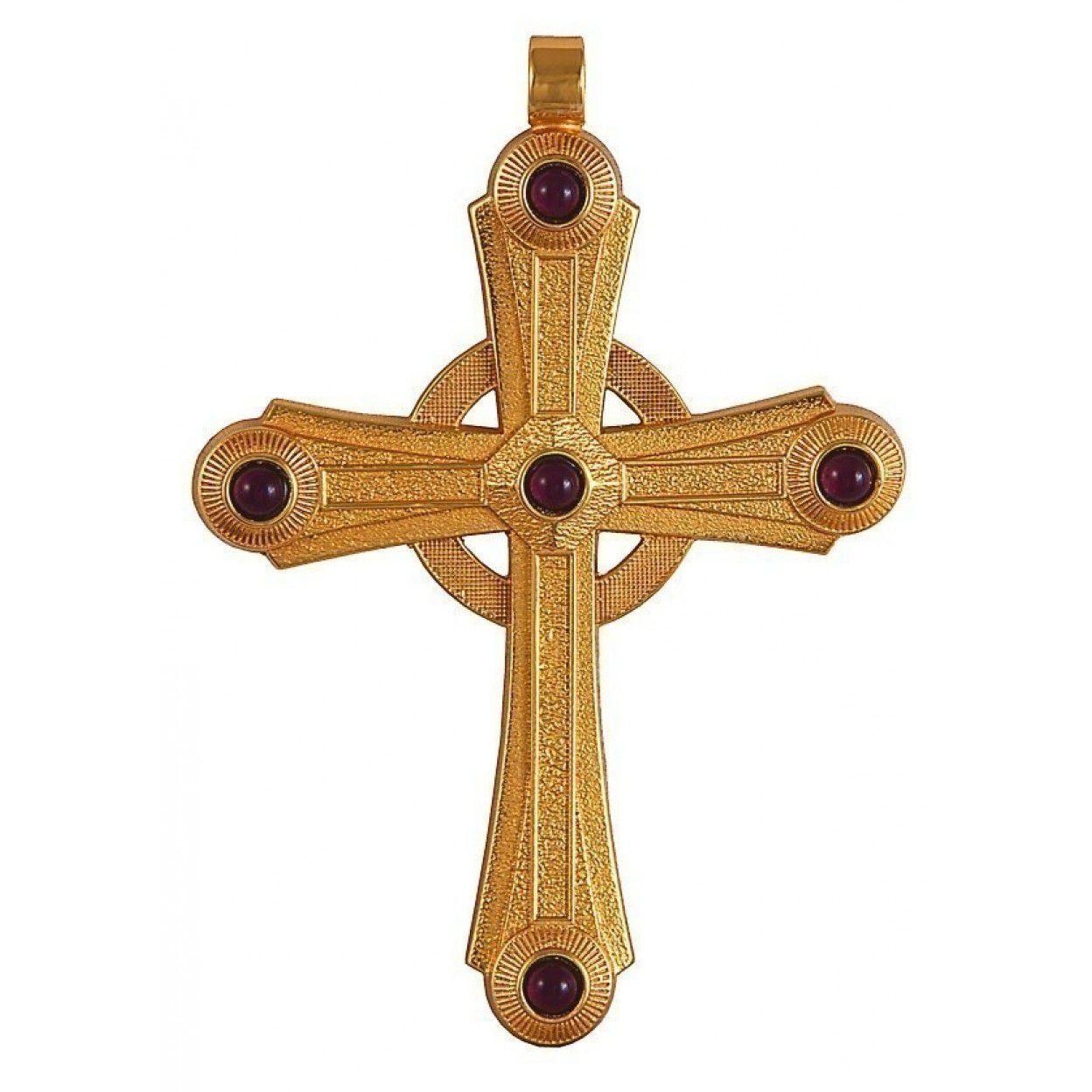Cruz Peitoral Dourada F10