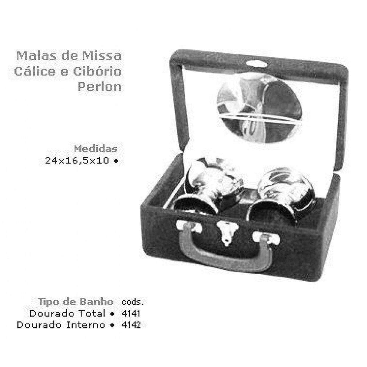 MALA DE MISSA CÁLICE E CIBÓRIO 4142