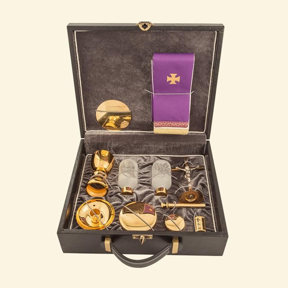 Mala de Missa Completa em Corvin Dourada 4129