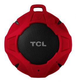 Caixa de Som Bluetooth TCL BS05 IPX7 À Prova d'Água, 8h de Bateria - Preto/Vermelho