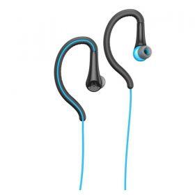 Fone De Ouvido Motorola Earbuds Sport Sh008 Com Microfone - Preto-azul
