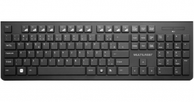 Kit Mouse + Teclado Sem Fio Multilaser WIreless TC212 - Preto