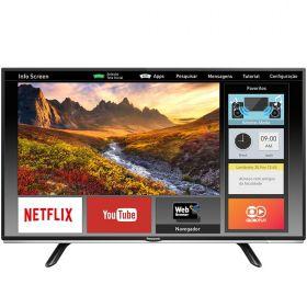 "Smart TV LED 40"" Full HD Panasonic VIERA TC-40FS600B com Wi-Fi, Ultra Vivid, My Home Screen, Web Browser, HDMI e USB"
