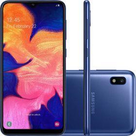 "Smartphone Samsung Galaxy A10 32GB Dual Chip 2GB Ram Android 9.0 Tela 6.2"" Octa-Core 4G Câmera 13MP - Azul"
