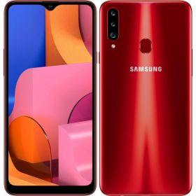 """Smartphone Samsung Galaxy A20s 32gb 3gb Ram Dual Tela de 6.5"""" 4G Câmera Tripla de 13+8+5MP - Vermelho"""