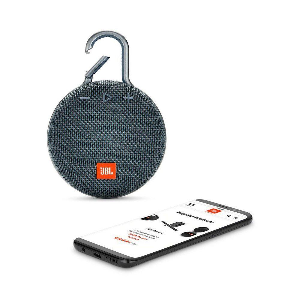 Caixa de Som Portátil JBL Clip 3 Bluetooth - Azul