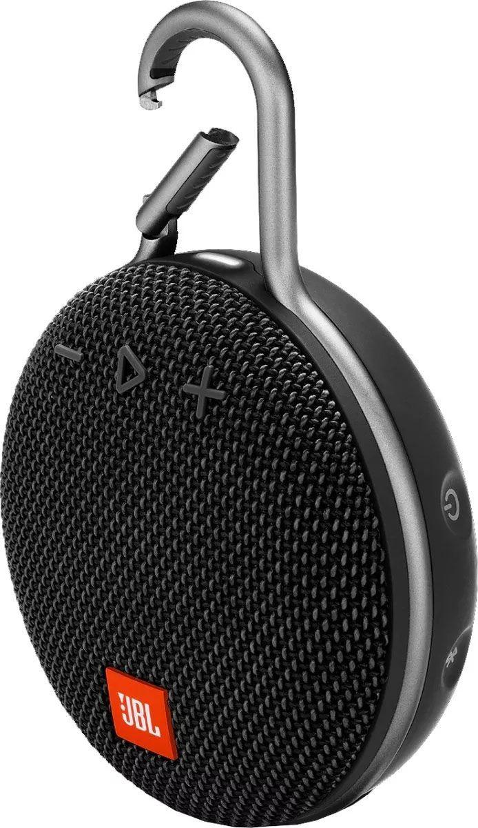 Caixa de Som Portátil JBL Clip 3 Bluetooth - Preta