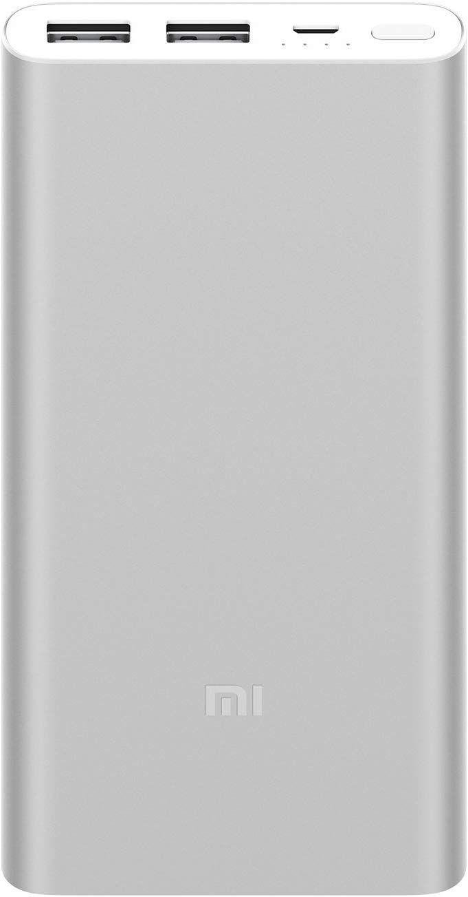 Carregador Portátil Xiaomi Mi Power Bank 2S 10000mAh - Prata