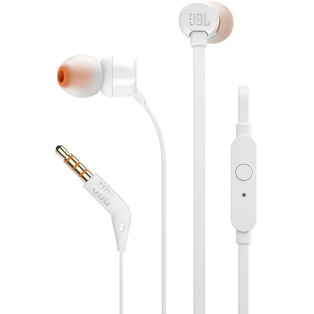 Fone De Ouvido JBL Tune 110 In Ear - Branco