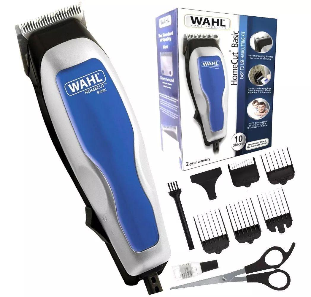 Máquina de Cortar Cabelo Wahl Home Cut Basic Profissional 110V - Azul