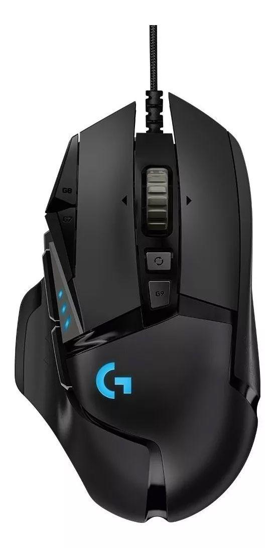 Mouse Gamer Logitech G502 Hero 16K DPI - Preto