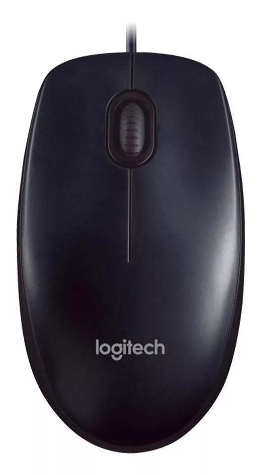 Mouse Logitech Com Fio Usb M90 - Preto