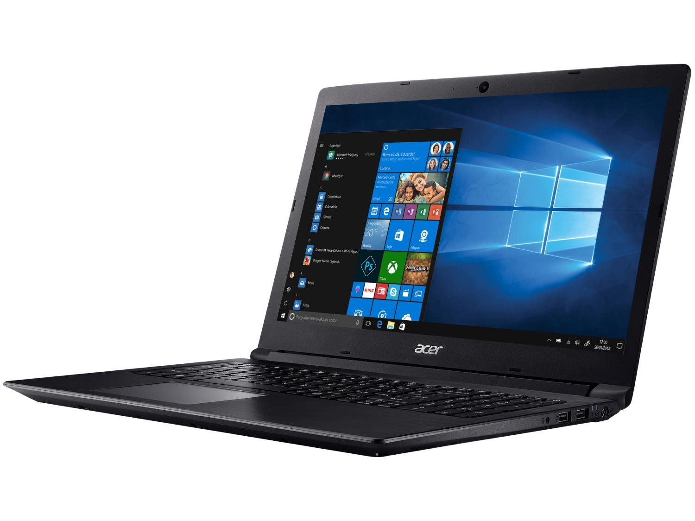 "Notebook Acer  Aspire 3 A315-53-P884 Pentium Gold 4417U Quad Core 8ª Intel 4GB 1TB Tela Led 15,6"" HD Windows 10 Ultrafino Preto"