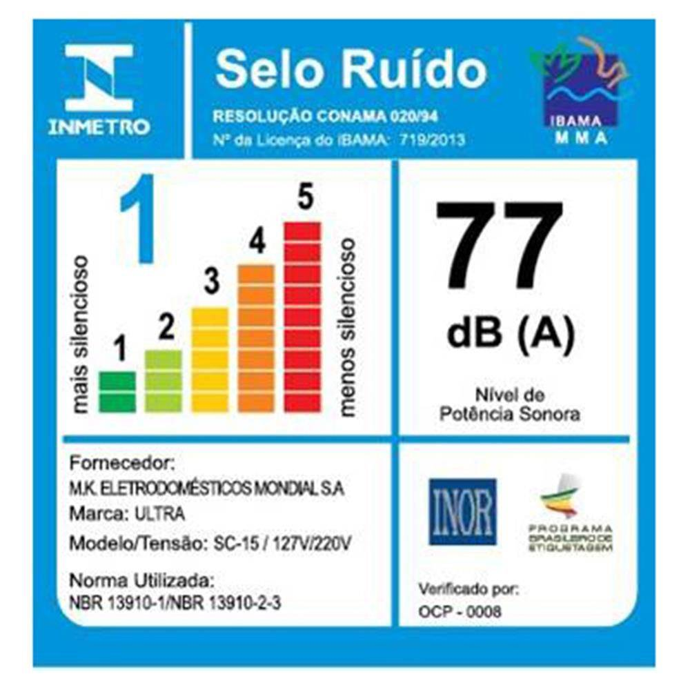 Secador Mondial Ultra SC-15 850w Preto/Prata - Bivolt