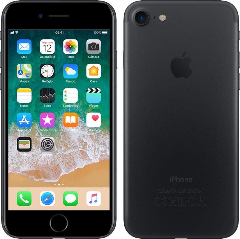 """Smartphone Apple iPhone 7 32gb Tela de 4,7"""" 4G Câmera de 12 MP - Preto"""