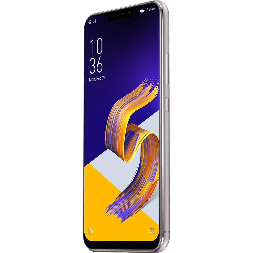 "Smartphone Asus Zenfone 5 64GB 4GB RAM Dual Tela 6.2"" 4G Câmera Dupla de 12MP + 8MP 3300mAh - Prata"