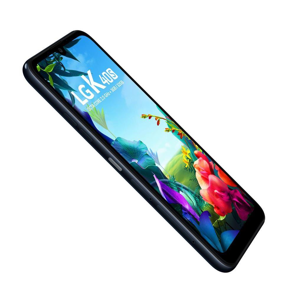 """Smartphone LG K40s 32gb 3gb Ram Dual Tela de 6.1"""" 4G Câmera Dupla de 13+5MP - Preto"""