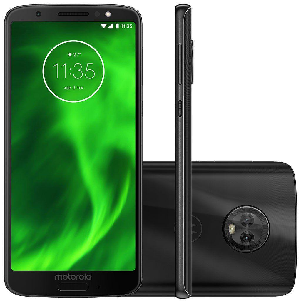 "Smartphone Motorola Moto G6 32GB Dual Chip Tela 5.7"" Android Oreo - 8.0  Octa-Core 1.8 GHz 4G Câmera 12 + 5MP (Dual Traseira) - Preto"