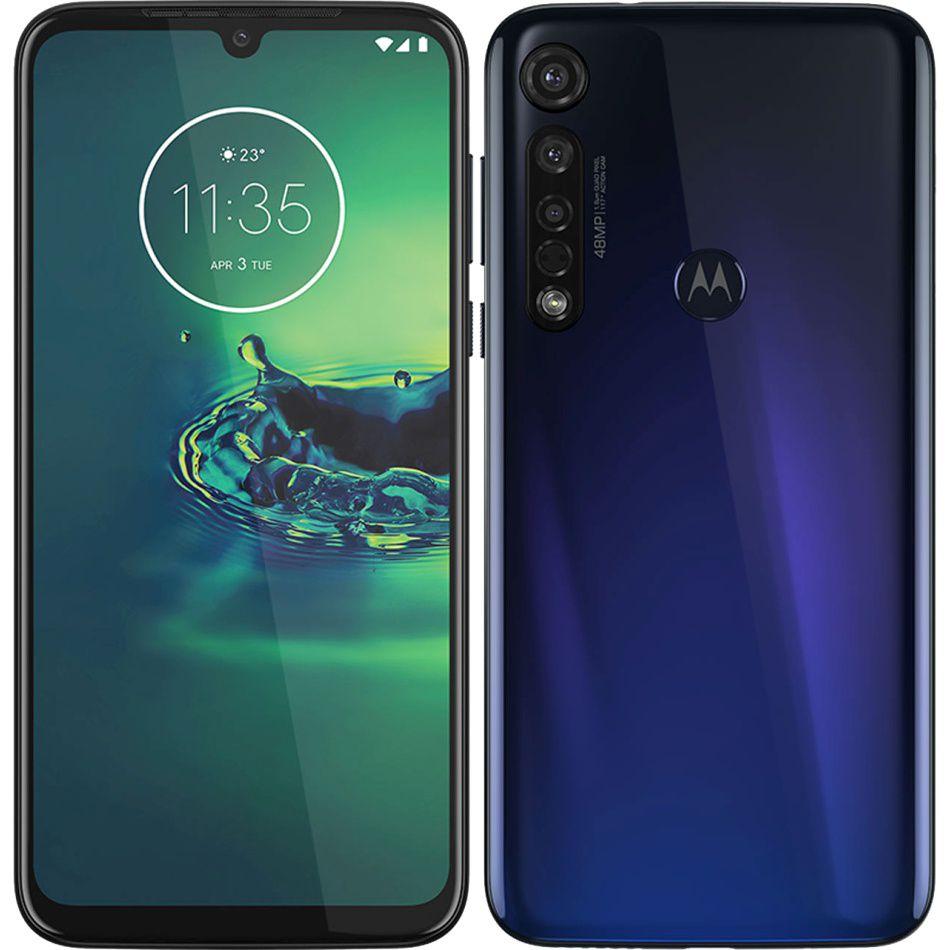 """Smartphone Motorola Moto G8 Plus 4gb RAM 68gb Dual Tela de 6.3"""" Câmera Tripla de 48+16+5MP - Azul"""