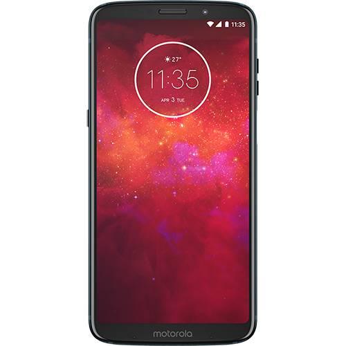 "Smartphone Motorola Moto Z3 Play - Power Pack & Dtv Edition Dual Chip Android Oreo - 8.0 Tela 6"" Octa-Core 1.8 GHz 64GB 4G Câmera 12 + 5MP (Dual Traseira) - Índigo"