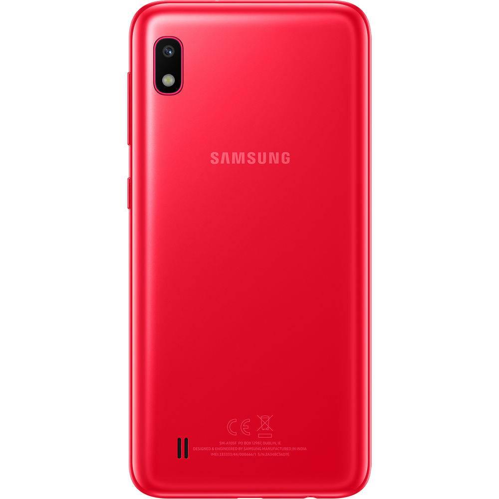 """Smartphone Samsung Galaxy A10 32GB Dual Chip 2GB Ram Android 9.0 Tela 6.2"""" Octa-Core 4G Câmera 13MP - Vermelho"""