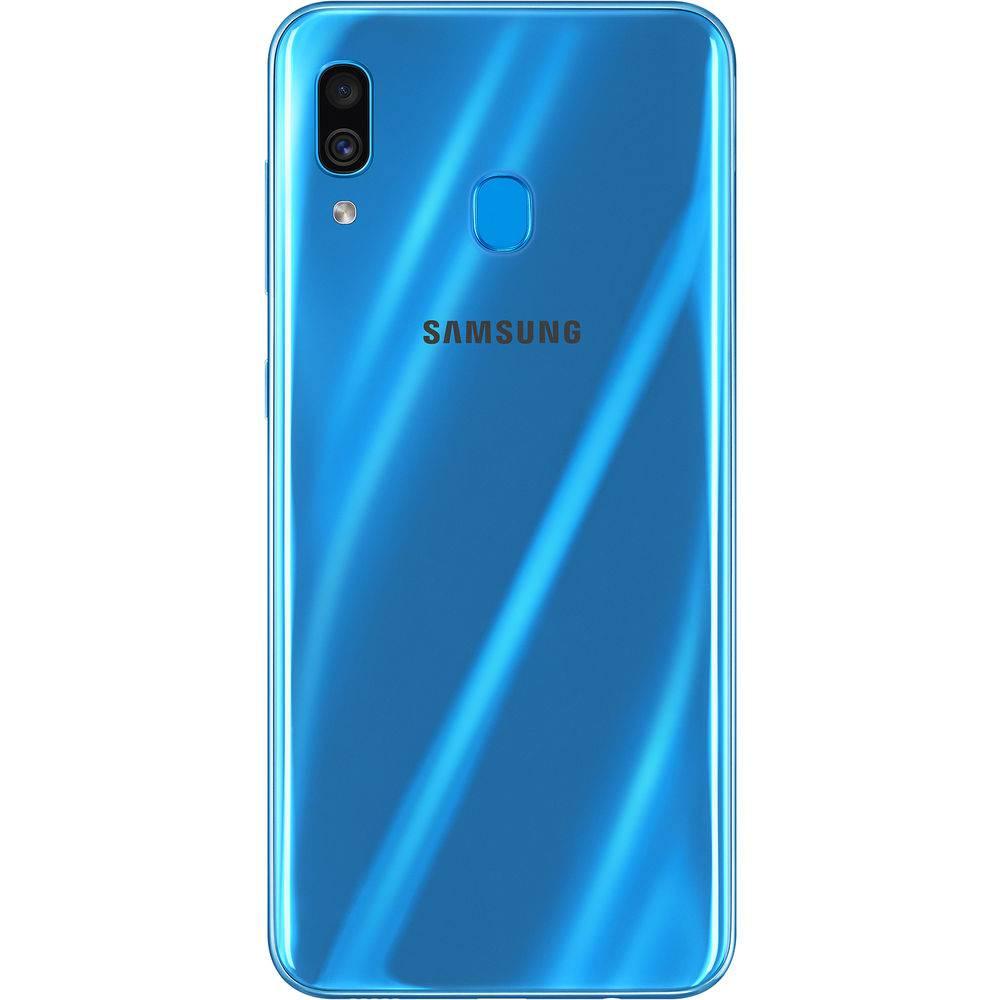 "Smartphone Samsung Galaxy A30 64GB Dual Chip 4GB Ram Android 9.0 Tela 6.4"" Octa-Core 4G Câmera 16MP + 5MP - Azul"