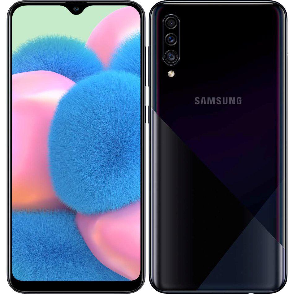 """Smartphone Samsung Galaxy A30s 64gb 4gb Ram Dual Tela de 6.4"""" 4G Câmera Tripla de 25+5+8MP - Preto"""